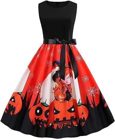 Disfraz de Carnaval para Mujer, Halloween, Calabaza, Cuello ...