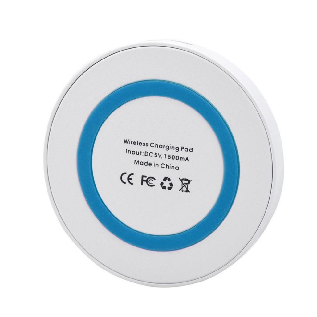 Portable Ultrathin Qi Wireless Power Fast Charger Charging Pad For Iphone 8 / 8 Plus / X/10/Samsung Galaxy S8/Note 8,FCC Certificated,Tuscom (Blue) by Tuscom (Image #4)