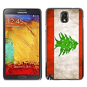LJF phone case Shell-Star ( National Flag Series-Lebanon ) Snap On Hard Protective Case For Samsung Galaxy Note 3 III / N9000 / N9005