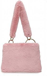 Bandoulière Épaule Sac à Bandoulière avec Des Sacs à Main en Peluche de Mode Décontractée , rose