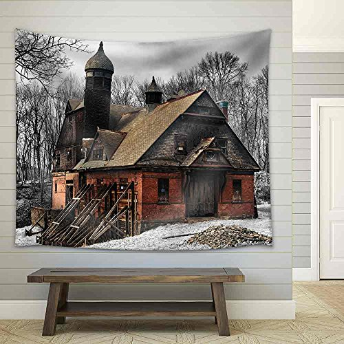 Abandoned Carriage House Fabric Wall Tapestry