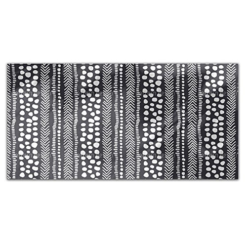 African Pathways Rectangle Tablecloth: Medium Dining Room Kitchen Woven Polyester Custom Print by uneekee