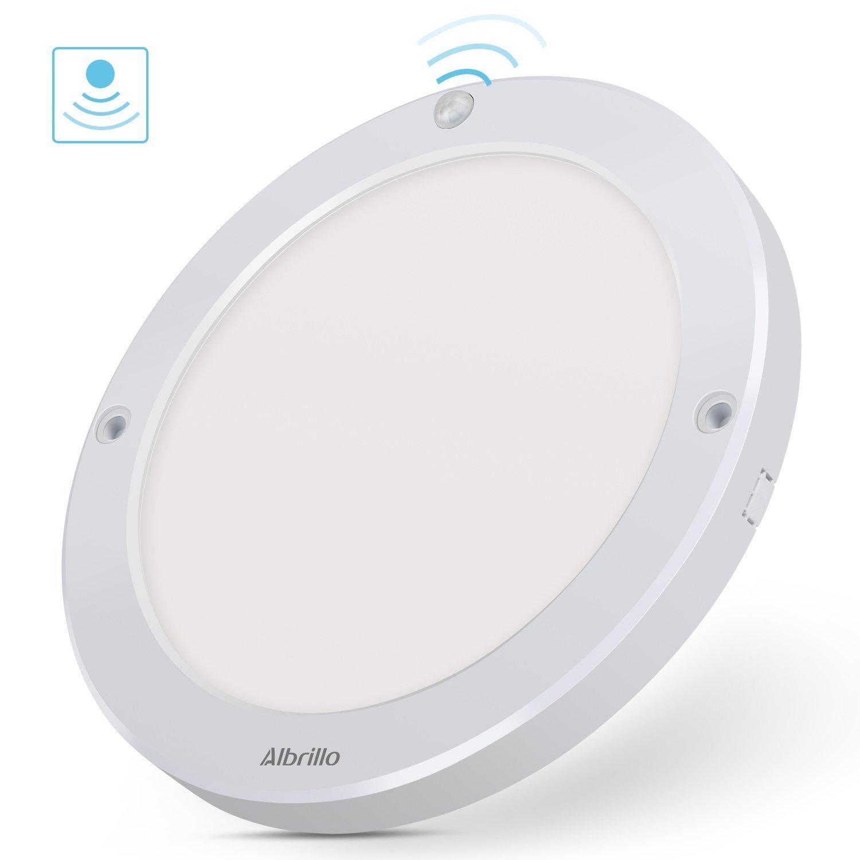 Albrillo Led Luz Armario Lámpara LED Inalámbrica (10LEDs), Luz para Armarios, Luz Nocturna (Sensor de Movimiento/ Funciona con Pilas/ Color Blanco) [Clase ...
