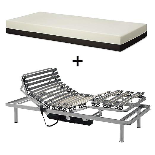 Gerialife® Pack Cama articulada con colchón viscoelástico desenfundable (105x190): Amazon.es: Hogar