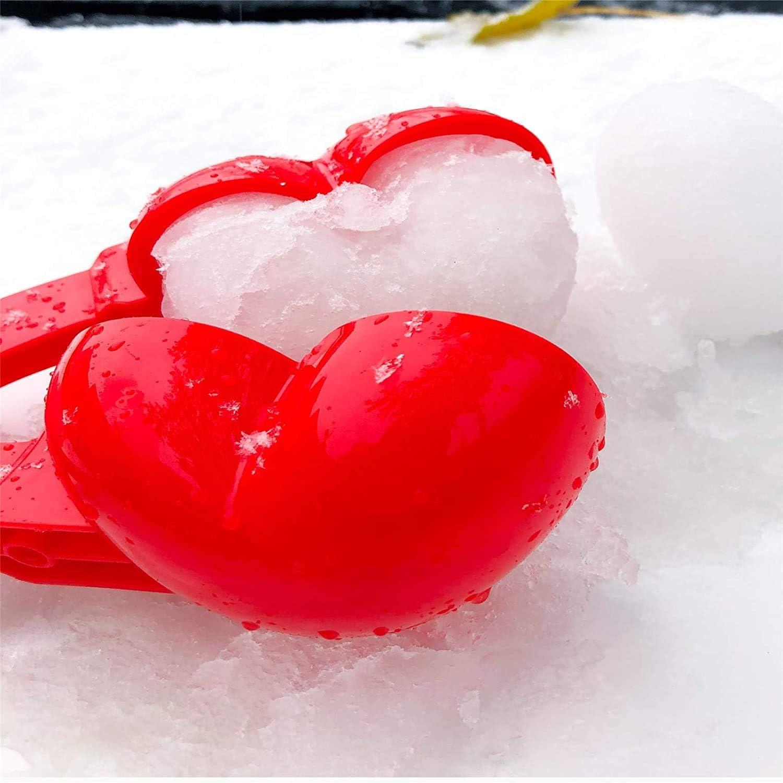 BekeLIN Schneeballzange Herz Schneeball Maker Winter Schneeball Form Schnee
