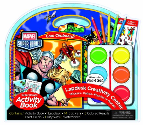 - Marvel Super Heroes Lapdesk with Jumbo Activity Set (AS86021)