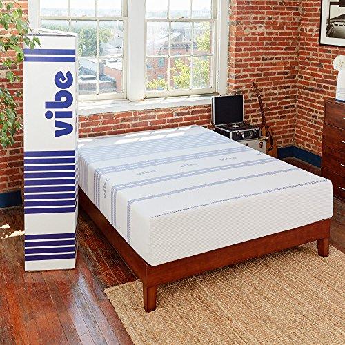 Classic Brands Vibe 12-Inch Gel Memory Foam Mattress, - Gel Medium Transfer