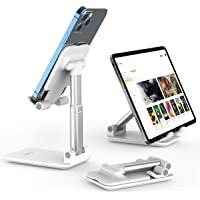 Licheers Foldable Cell Phone Holder Stand (White)