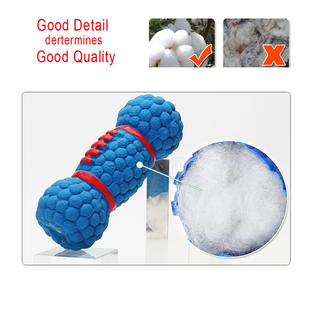 Petgin Dog Toys for Boredom Chew Toys Latex Squeaky Floating Toy Fetch Throw Ball for Small Medium Dogs