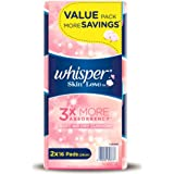 Whisper Skin Love Ultra Slim Heavy Flow 28cm Sanitary Pads Value Pack, 16ct (Pack of 2)