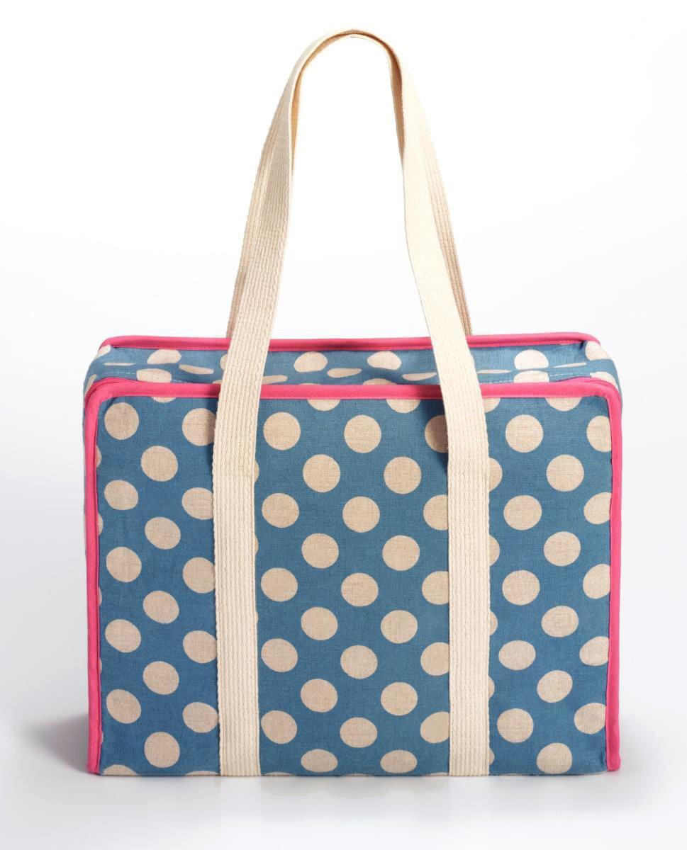 Prym Polka Dot 1, colore: rosa e Bianco con finiture in lino, colore: blu, taglia: L PRYM_612121-1