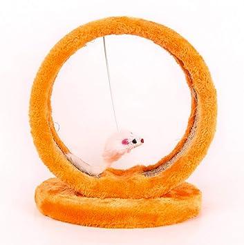 Fushenr Rascador para Gatos, Poste de sisal para Gato, ratón ...