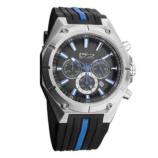 Daniel Steiger aceleración multifunción acero lujo reloj deportivo - Resistente al agua 10 ATM - Alta precisión calidad deportes Classic - Precisión cuarzo ...