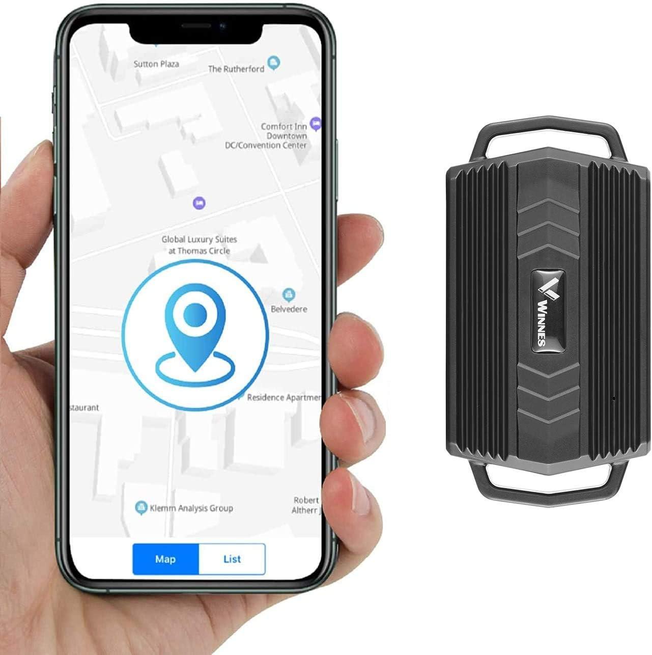 KUCE Localizador GPS para Coche,Rastreador GPS Impermeable de 3000 mAh, Rastreador GPS en Tiempo Real, Fuerte Posicionamiento Magnético para Camiones, Motocicletas, Automóviles, Barcos