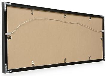 amazoncom 40 x 135 panoramic photo frame for wall mount use 1 inch profile aluminum black