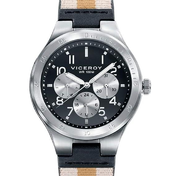 Viceroy 42337-54 Reloj Hombre Cuarzo Multifunción Acero IP Gris Tamaño 40 mm Correa
