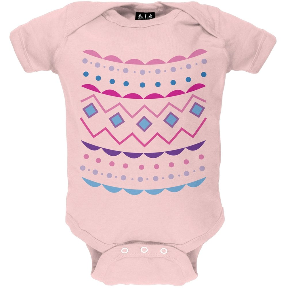 Easter Egg Pink Zig Zag Costume Baby One Piece - 6 month