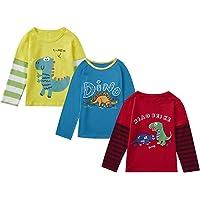 playera para niños y niñas, 2 piezas, 3 piezas, cuello redondo, rojo, blanco, amarillo, azul, playera 1T-6T