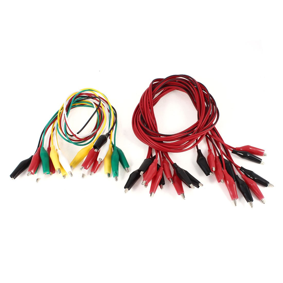 uxcell 15 Pcs Single/Dual Double-ended Wire Testing Work Alligator Clips Jumper