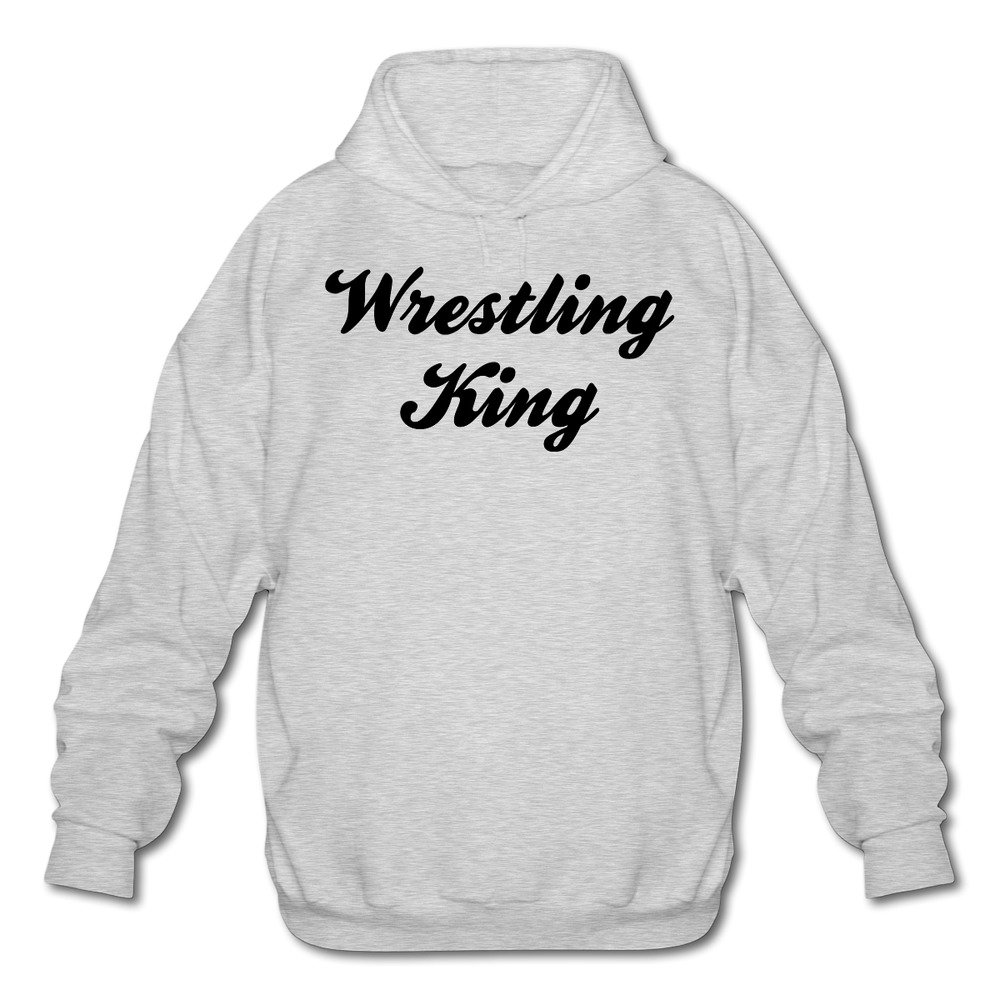 xianwei Women's Long Sleeve Cotton Hoodie Wrestling King SweatshirtAsh by xianwei