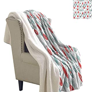 AndyTours Custom Blanket Christmas Kids Santa Costumes Reversible Blanket for Bed and Couch W59 x L31