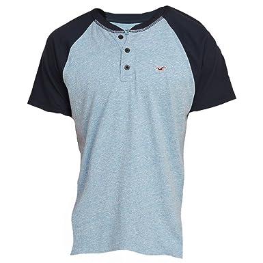 09efd19b1ee1d4 Hollister Men s Must-Have Slim Fit Colorblock Henley Tee T-Shirt ...