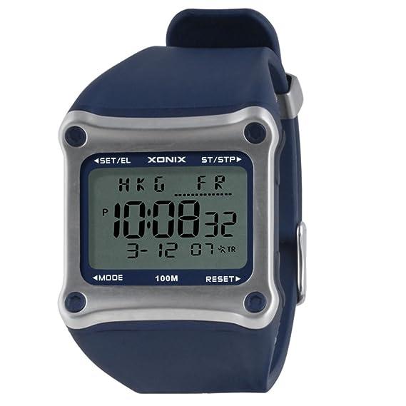 Reloj pantalla digital,Reloj cuadrado electrónico hombres impermeable multiusos buceo natación reloj hombre led luminoso reloj deportivo-C: Amazon.es: ...
