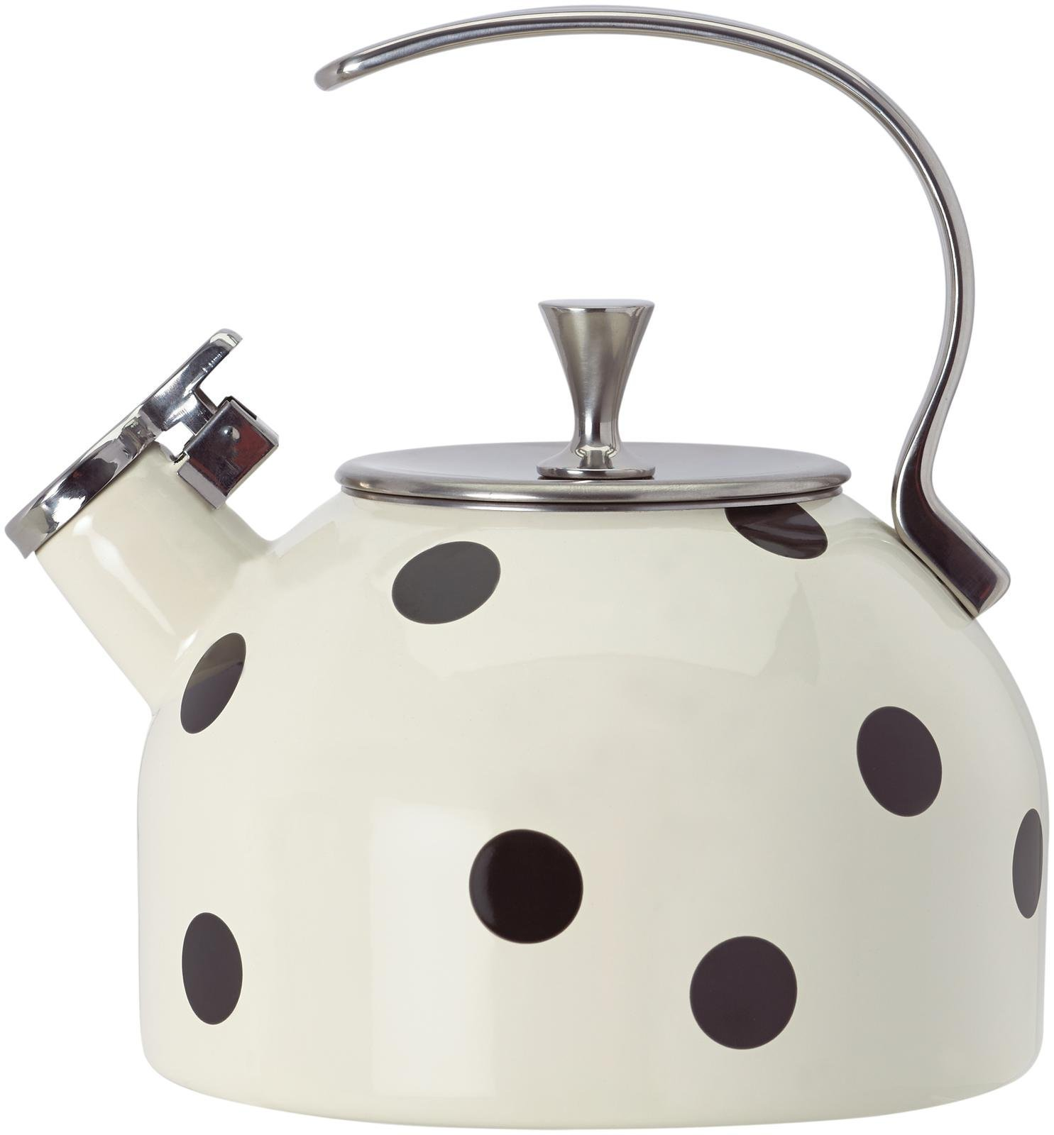 Kate Spade New York Deco Dot Black Tea Kettle by Kate Spade New York