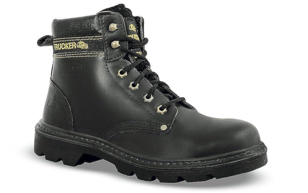 Calzado de Seguridad de Reino Unido 82003 Piel, Color Negro: Amazon.es: Zapatos y complementos