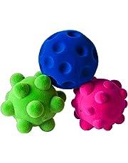 Rubbabu 3 Small Stress Balls-Polybag Kids Toy, Multi