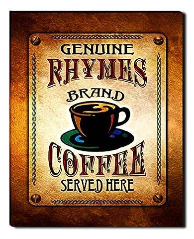 Rhymes Brand Coffee Gallery Wrapped Canvas Print (Cvs Rhymes)
