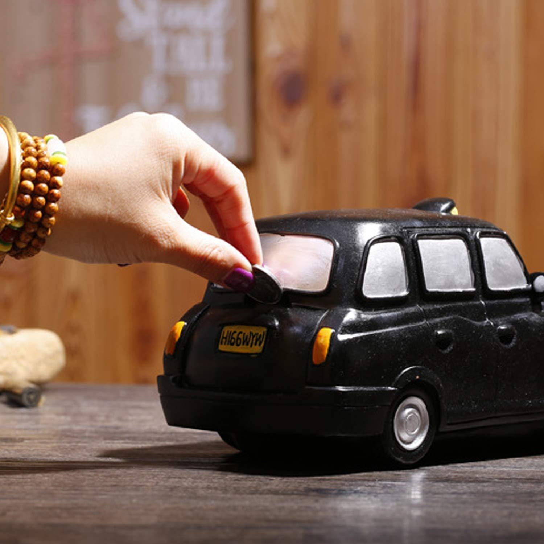 YUNDING YUNDING YUNDING Sparschwein, Kreatives Taxi-Styling, Kunstharzherstellung, Geld/Geld-Box Sparen, Kunstdekorationen Für Zuhause, Geschenke Für Kinder d08c28