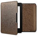 kwmobile Case for Amazon Kindle Paperwhite - Book Style PU Leather Protective e-Reader Cover Folio Case - Bronze