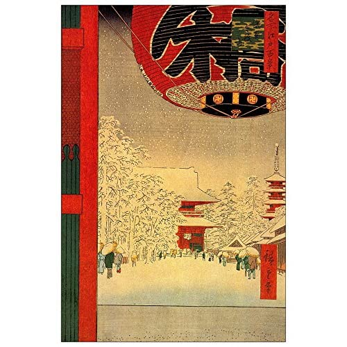 ArtPlaza Hiroshige Utagawa - Kinryuzan Temple Panneau Décoratif, Bois, Multicolore, 60 x 1.8 x 90 cmAS92922