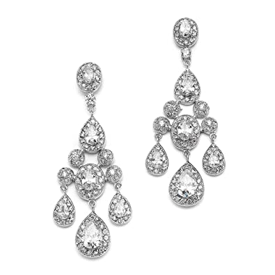 Amazon.com: Mariell Vintage Glam CZ Wedding or Pageant Chandelier ...