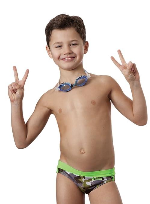 aa11be81bd3a6c Okeo -ULISSE- Costume Slip Nuoto per Bambino: Amazon.it: Sport e ...