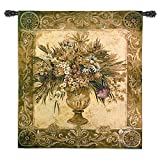Fine Art Tapestries Tuscan Urn Wall Tapestry 1388-WH 45 inches wide by 53 inches long, 100% cotton