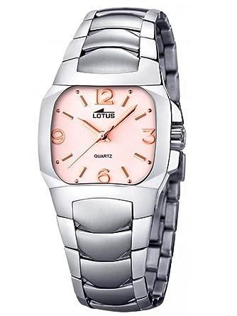 Lotus 15505/J - Colección CODE, reloj de mujer de cuarzo, esfera color rosa y cobre: Amazon.es: Relojes