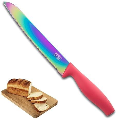 Cuchillo De Pan De Color Iridiscente - Navaja Dentada De 20 ...