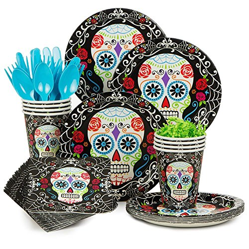 Costume Supercenter BBKIT1045 Day of the Dead Standard Tableware Kit (Day Of The Dead Party Ideas)