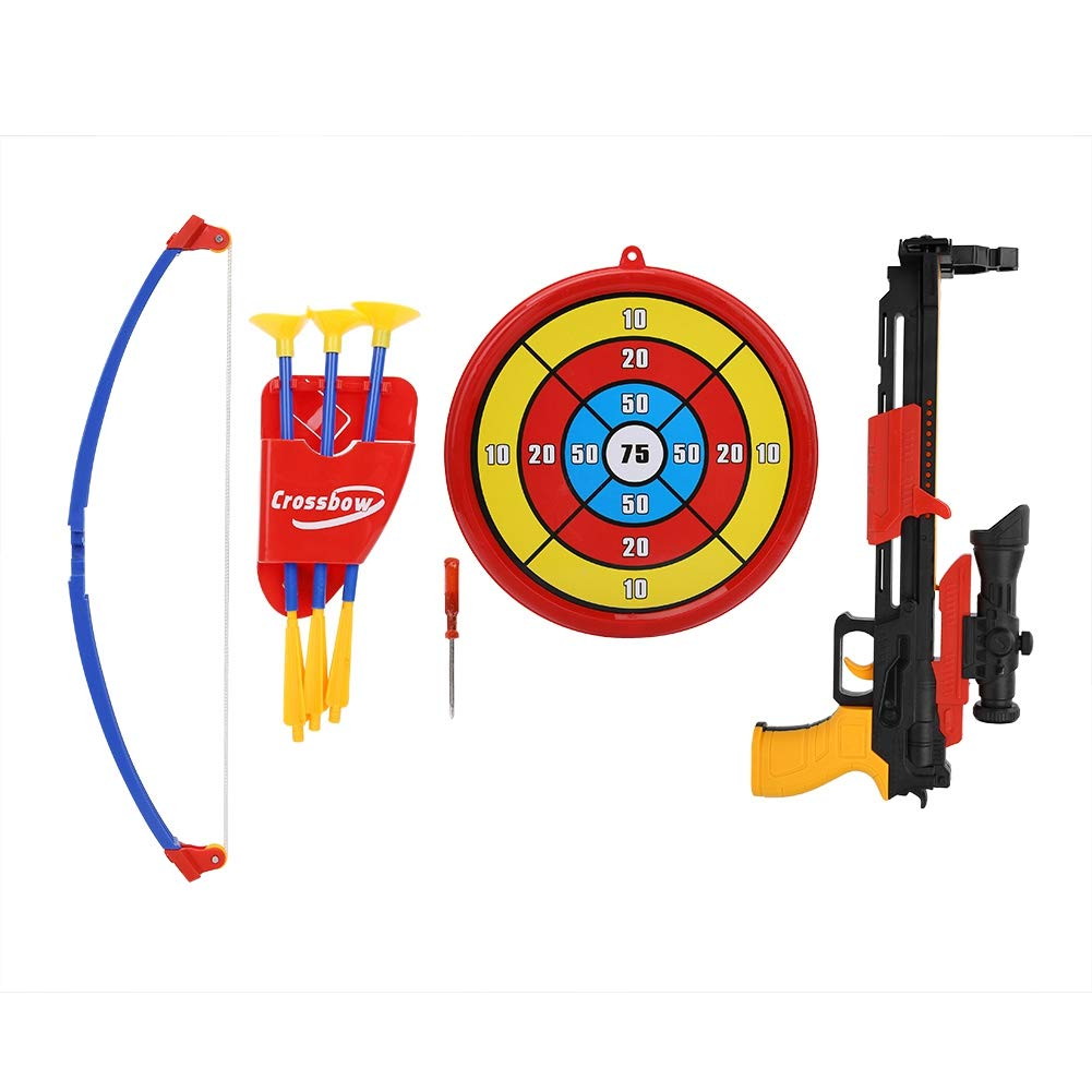 VGEBY1 Crossbow Toy, Kids Archery Bow Toy Set Crossbow with Target for Outdoor Indoor Shooting Game by VGEBY1