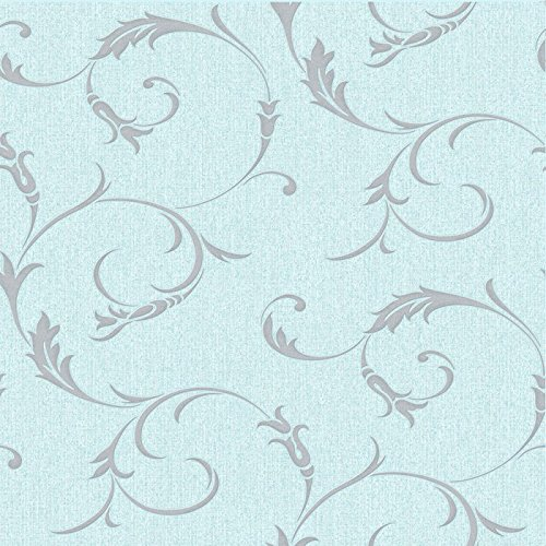 (Graham & Brown 20-728 Athena Duck Egg Wallpaper,)