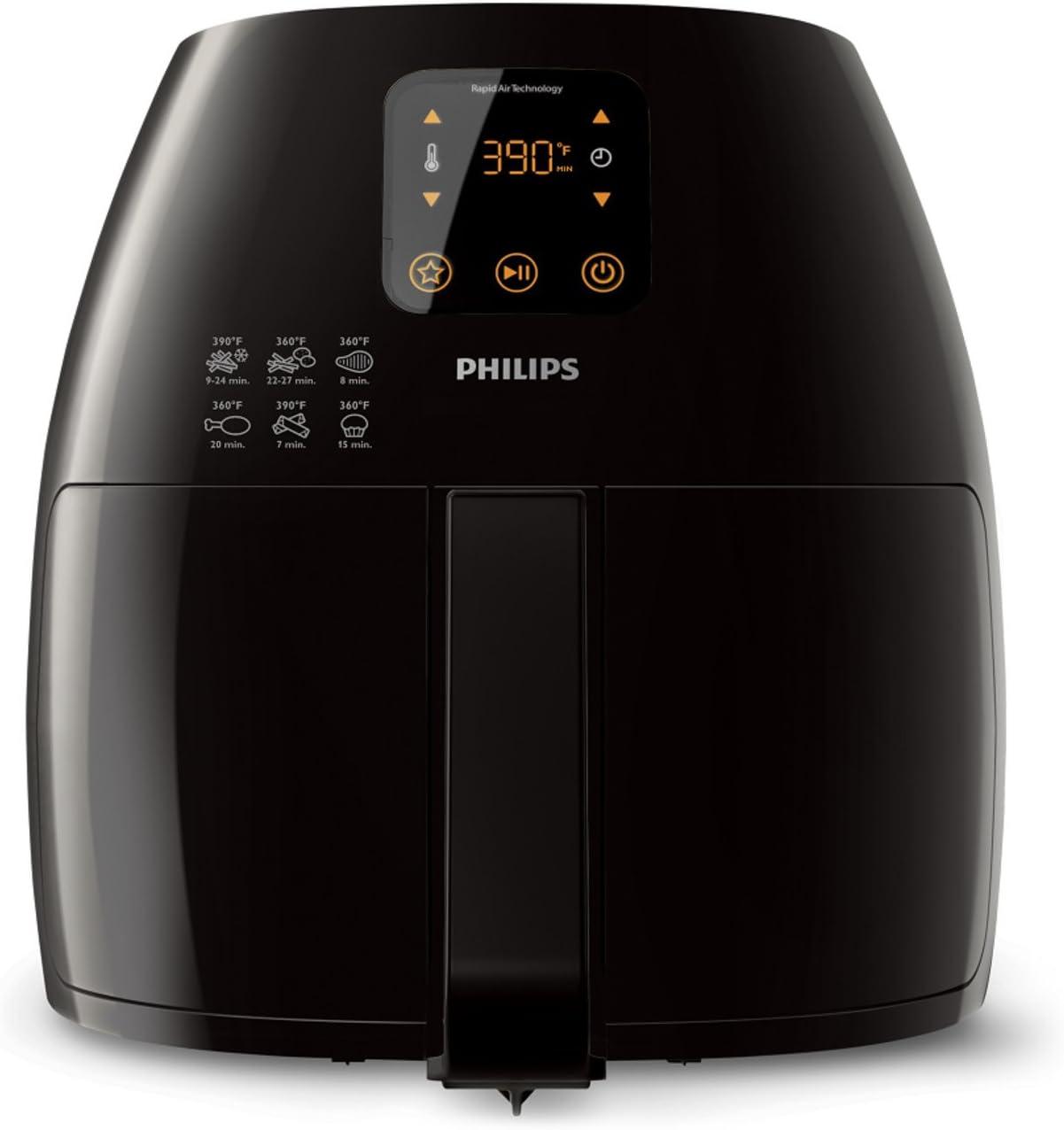 Philips Starfish Technology XL Airfryer, Digital Interface, Black - 2.65lb/3.5qt HD9240/94