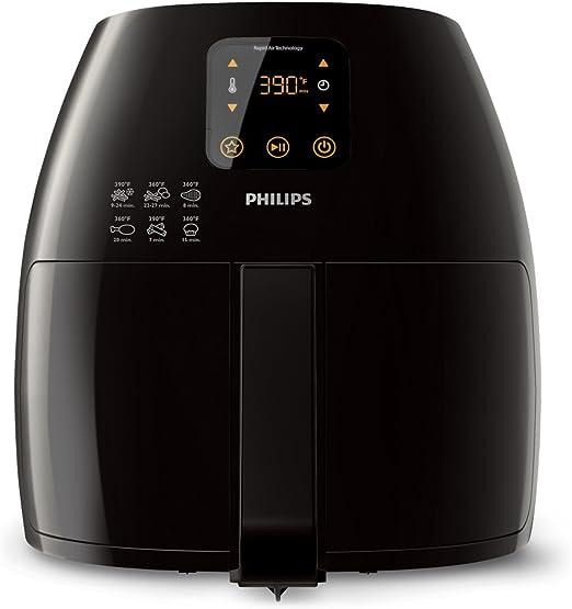 Philips Starfish Technology XL Airfryer, Digital Interface, Black 2.65lb3.5qt HD924094