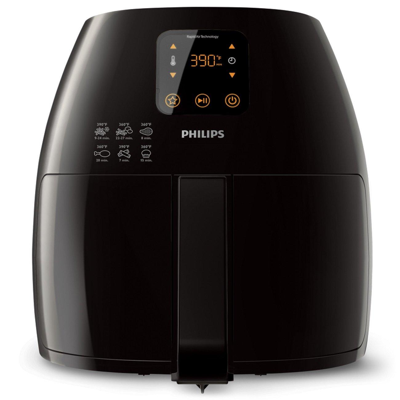 Philips Starfish Technology XL Airfryer, Digital Interface, Black - 2.65lb/3.5qt  HD9240/94 by Philips Kitchen Appliances