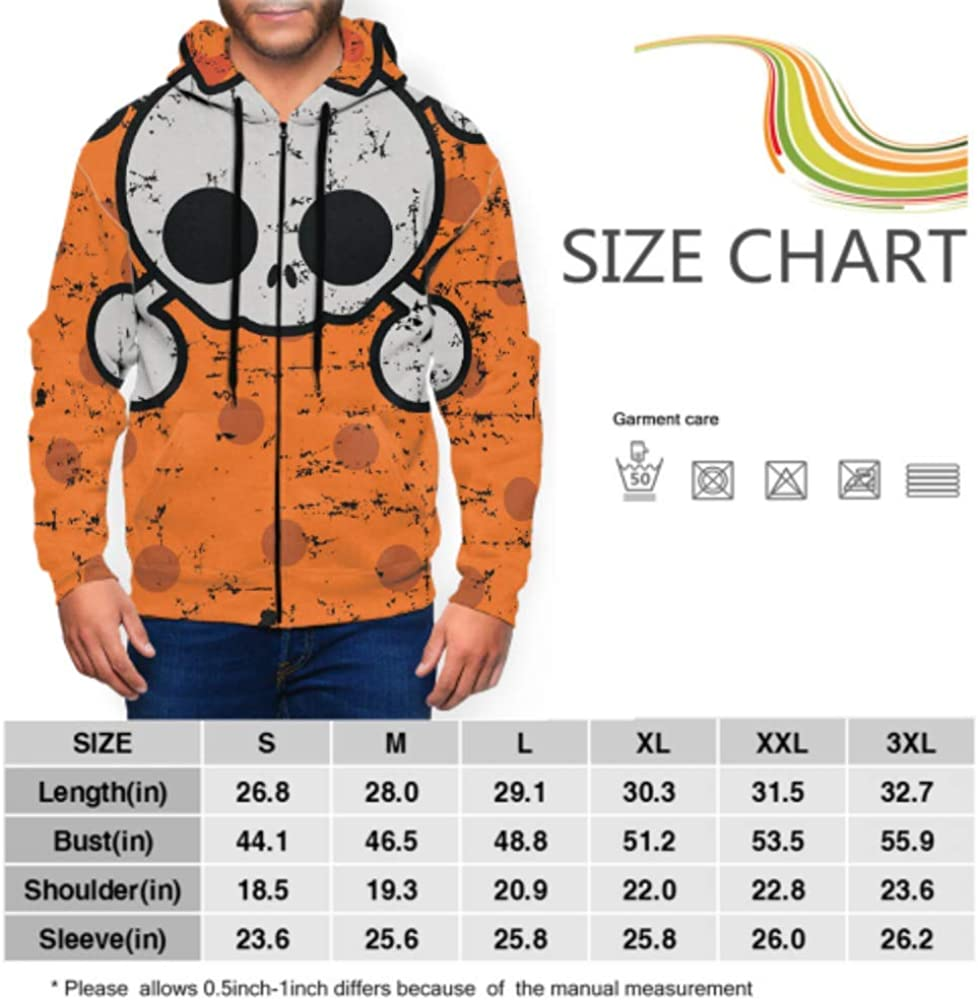 GUJGK Long Sleeve Hoodie Print Elf Dragging Bag Under The Tree Jacket Zipper Coat Fashion Mens Sweatshirt Full-Zip S-3xl