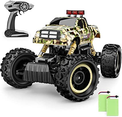 Amazon Com Bezgar 12 Toy Grade 1 12 Scale Remote Control Crawler 4wd High Speed 15 Km H All Terrains Electric Toy Off Road Rc Monster Vehicle Truck Car With Rechargeable Batteries For Boys Kids