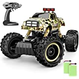 BEZGAR 12 Toy Grade 1:12 Scale Remote Control Crawler, 4WD High Speed 15 Km/h All Terrains Electric Toy Off Road RC Monster V