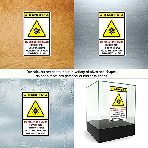 Amazon com hobby vinyl decal uv radiation hazard use only with shielding in pl hobby decor 8 x 495 in fully waterproof printed vinyl sticker