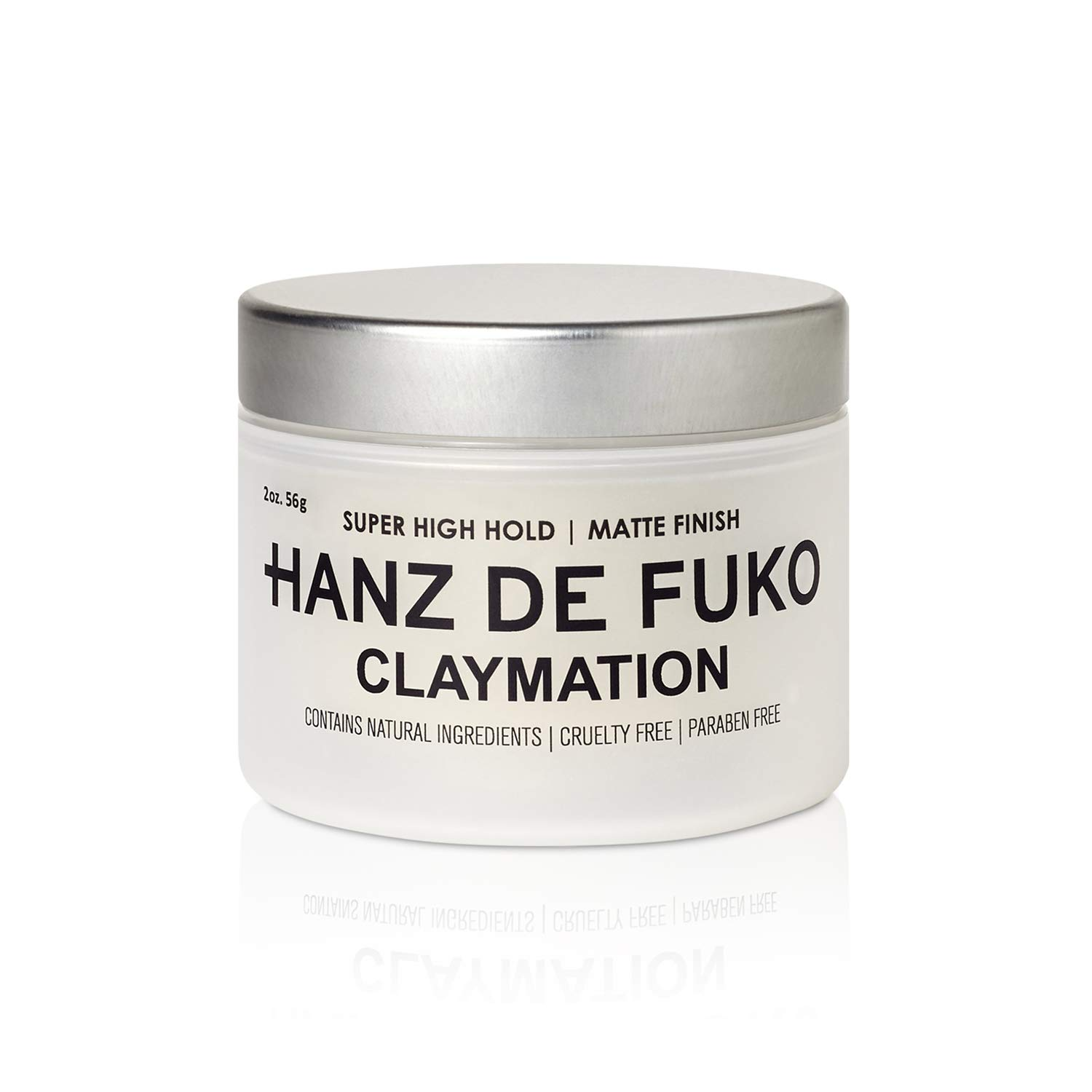 Hanz de Fuko Claymation- Premium Mens Hair Styling Clay with Matte Finish (2 oz) Cruelty Free : Beauty